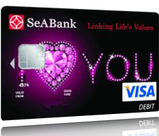 Thẻ SeABank I love you Visa Debit