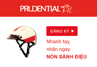 Tặng nón bảo hiểm sành điệu khi đăng ký tư vấn bảo hiểm nhân thọ Prudential