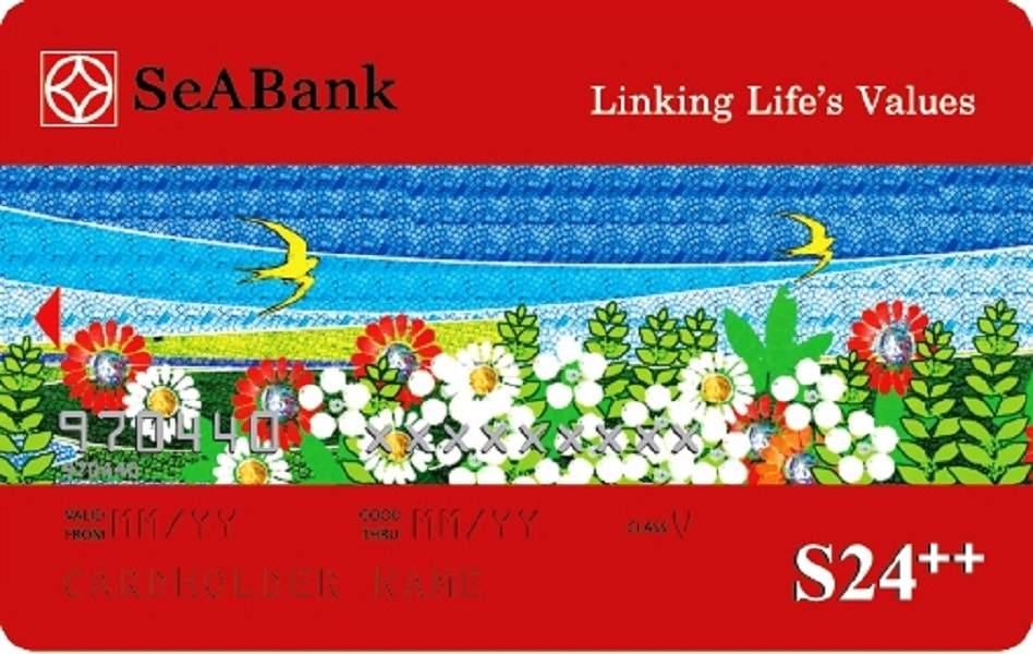 Trong hình là thẻ ghi nợ nội địa SeABank S24++
