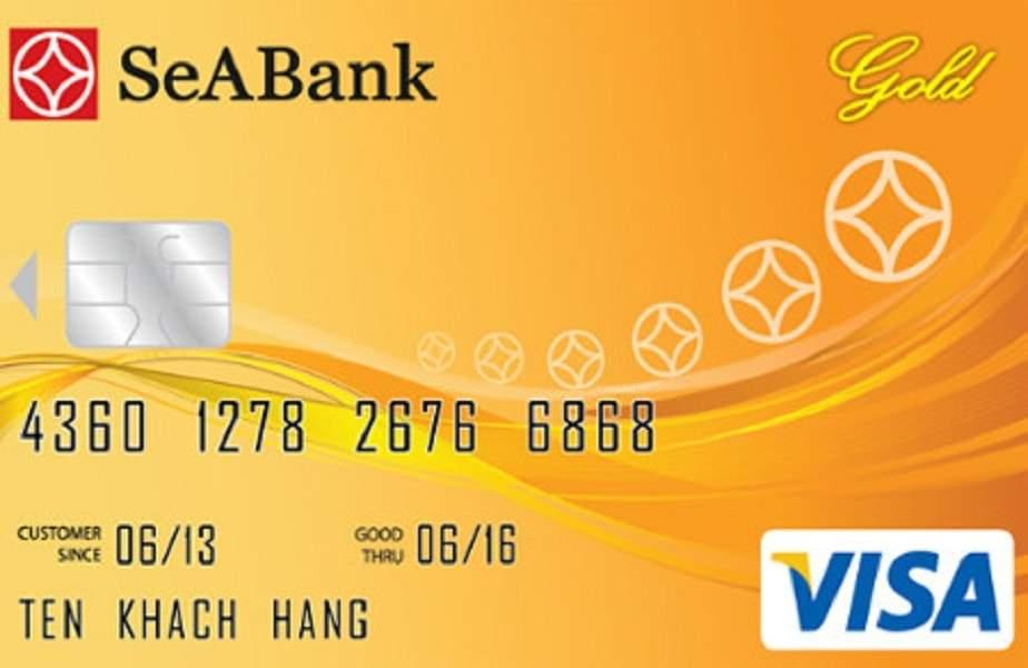 Trong hình là thẻ tín dụng quốc tế SeABank Visa