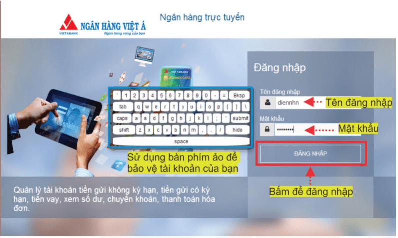 Internet Banking VietA Bank