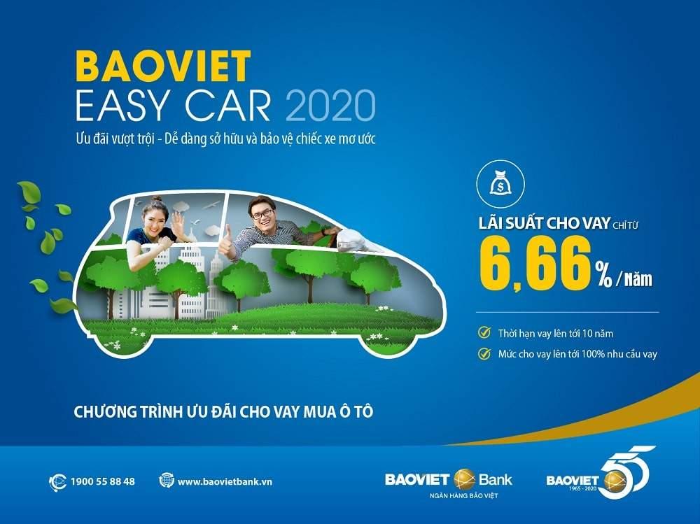 Vay mua ô tô lãi suất thấp, phê duyệt chỉ 12h tại BAOVIET Bank
