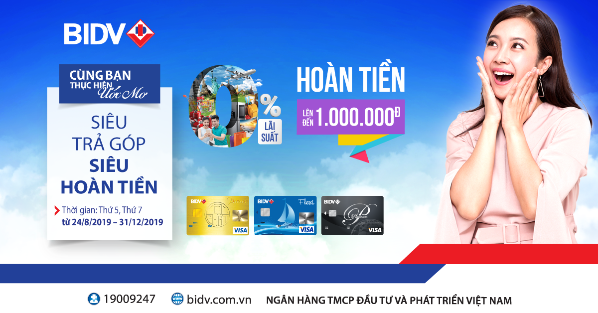 Chương trình trả góp qua thẻ tín dụng BIDV là gì?