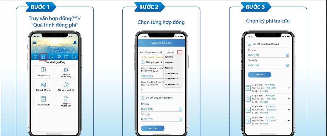Quy trình tra cứu qua app khá đơn giản