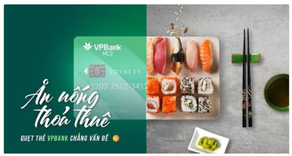Ưu đãi ăn uống thẻ tín dụng VPBank MC2