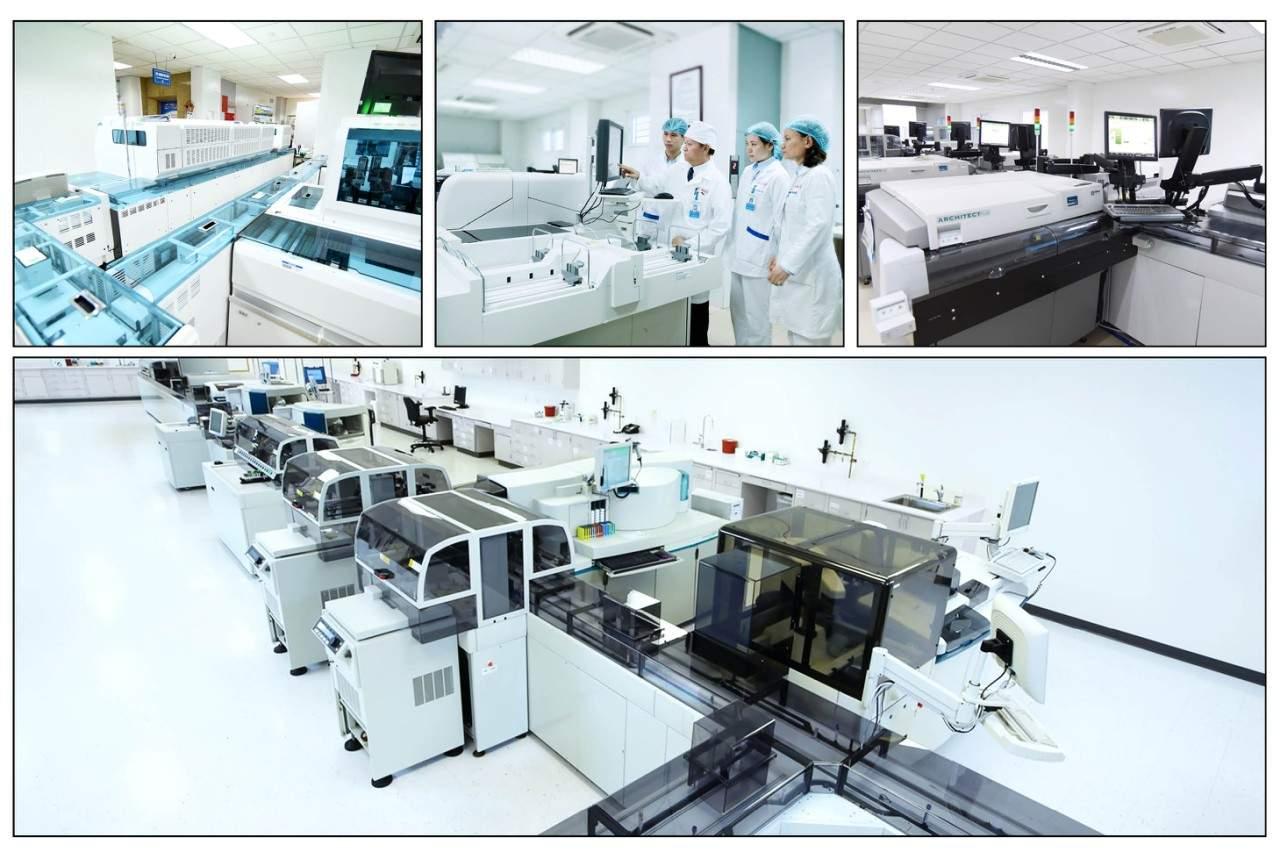 Hệ thống máy xét nghiệm hiện đại automation