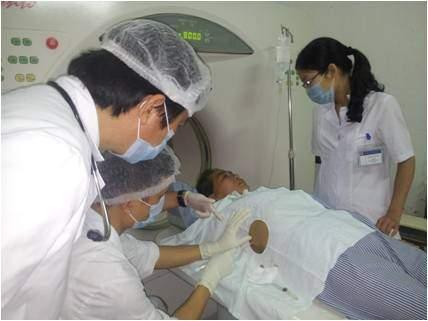 Chọc Abces gan dưới hướng dẫn CT scaner