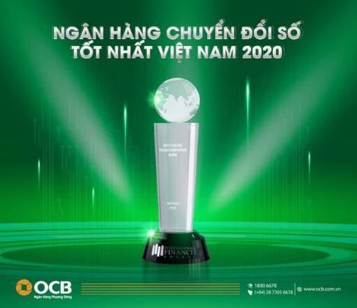 OCB được nhiều giải thưởng uy tín