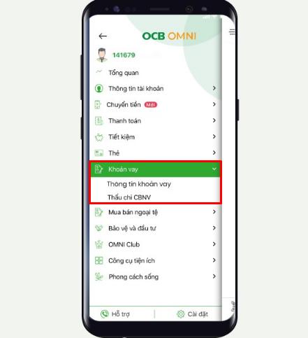 Tra cứu thông tin khoản vay tín chấp OCB trên Omni