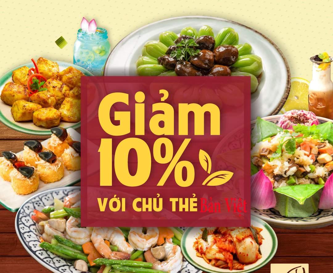 Ưu đãi ẩm thực thẻ Bản Việt