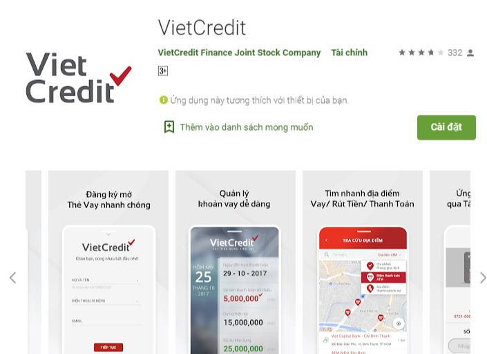 Tải ứng dụng Vietcredit trên chợ ứng dụng