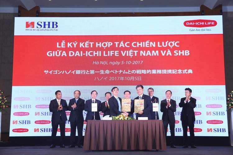 Lễ ký kết hợp tác giữa Dai-ichi Life và SHB