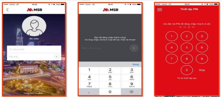 Cách đăng nhập Mobile Banking Maritime Bank