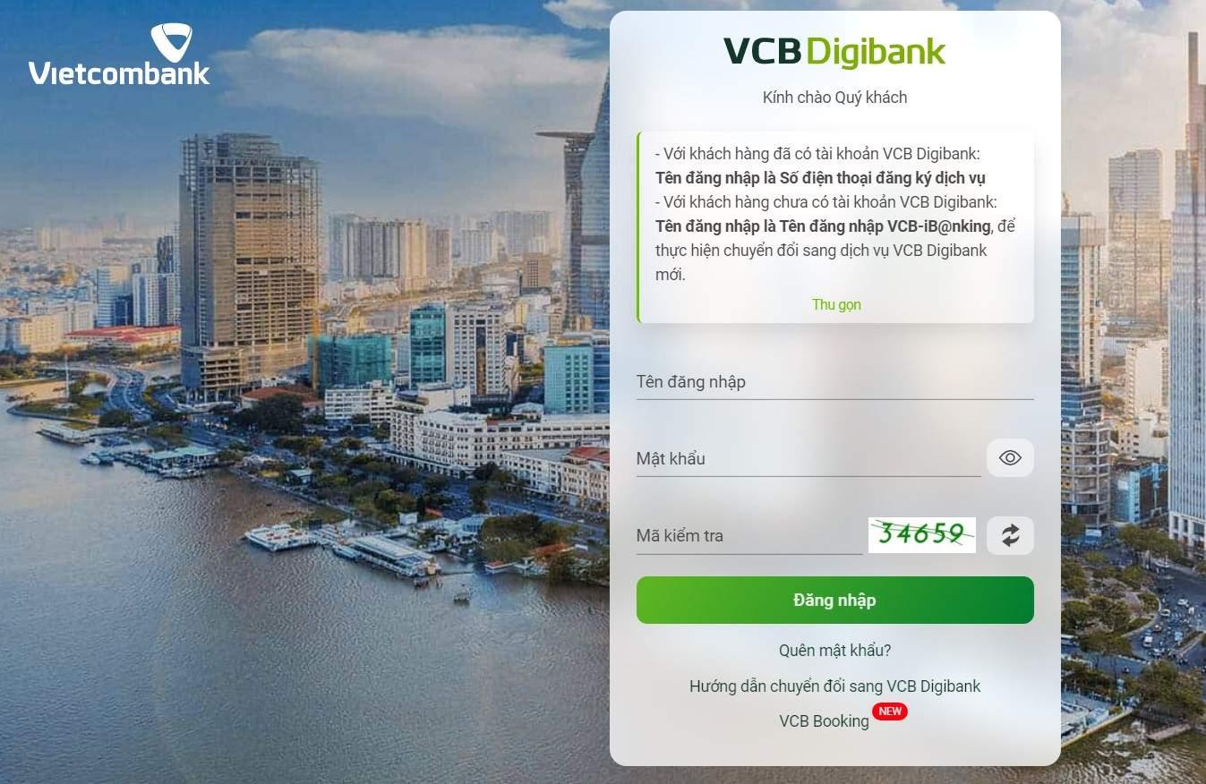 Chuyển tiền khác ngân hàng VCB qua VCB Digibank