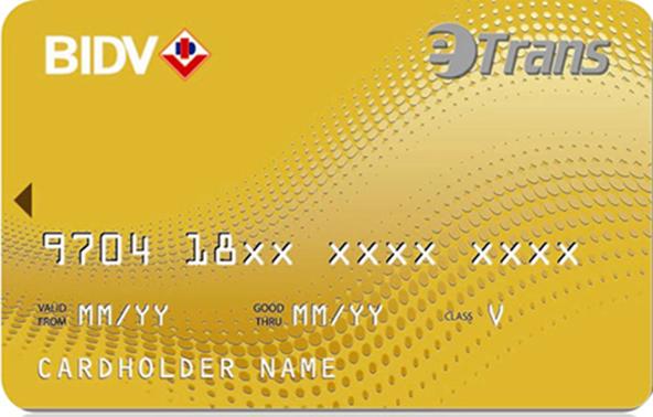 Thẻ BIDV eTrans