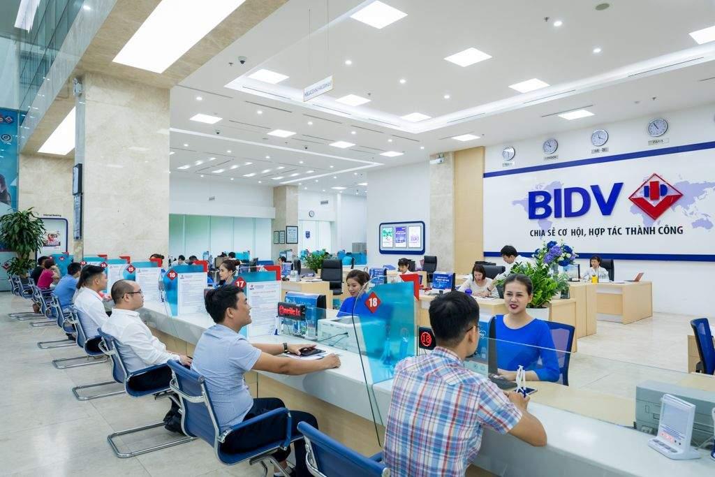 Quầy giao dịch tại chi nhánh BIDV