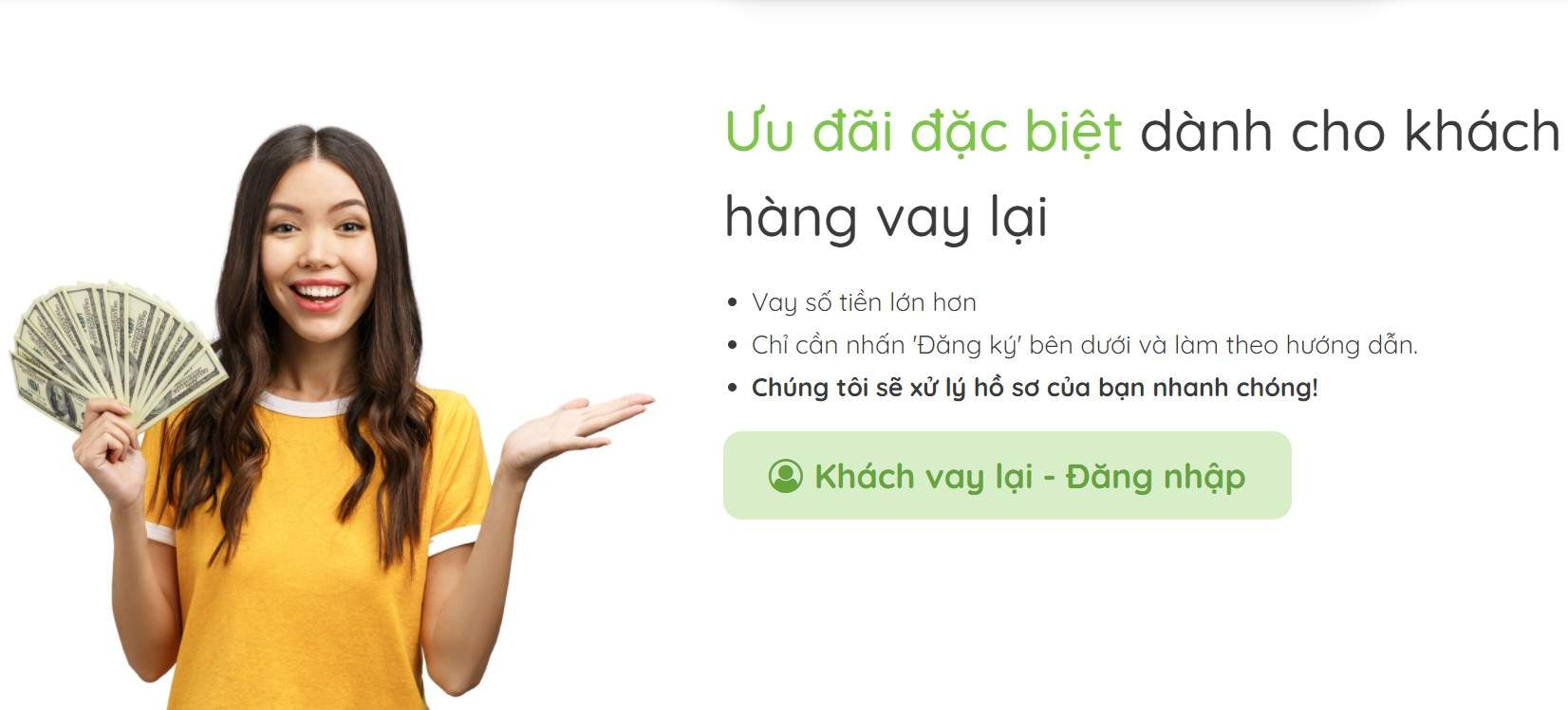 Vay tiền mặt online doctor dong