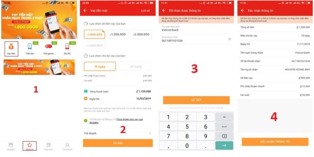 Hướng dẫn chi tiết cách vay tiền mặt trên ứng dụng Akulaku