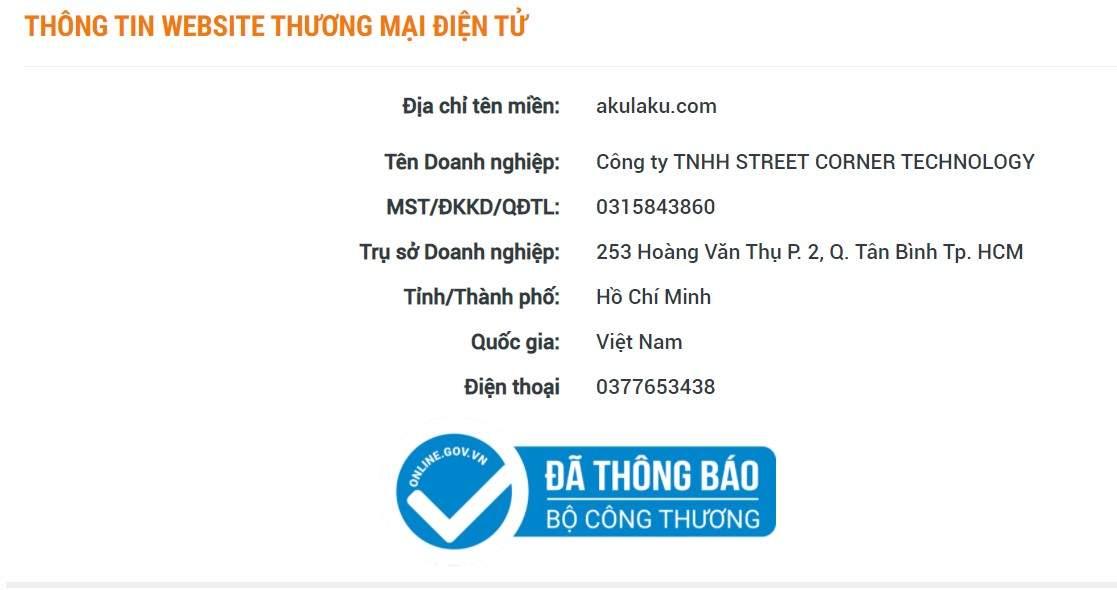 Giấy phép thành lập Akulaku Việt Nam