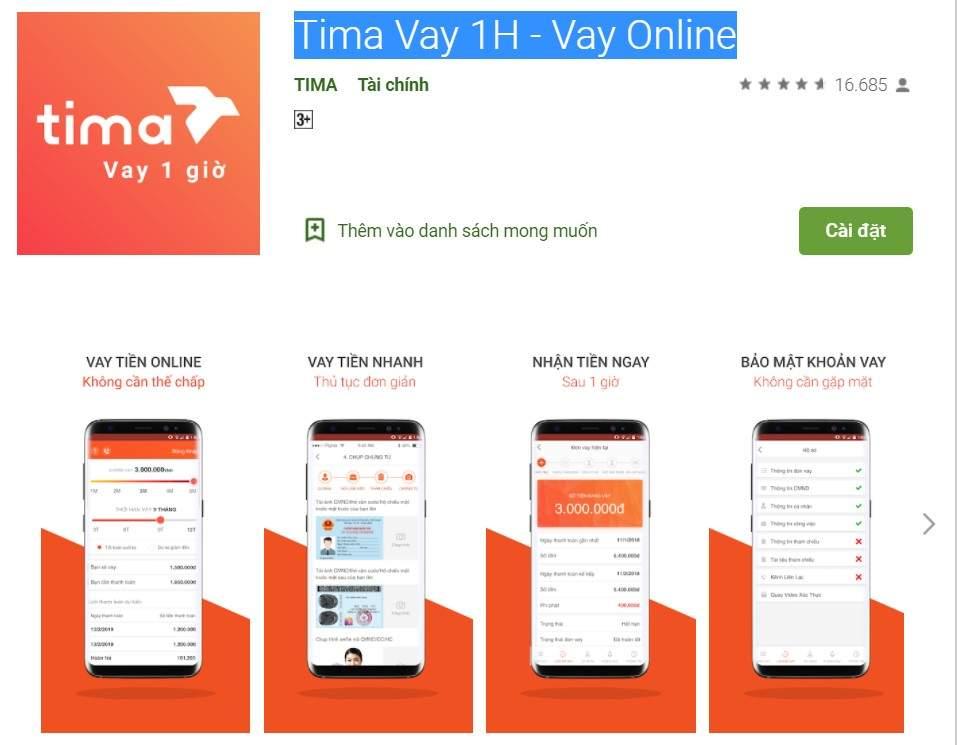 App Tima - Vay 1H
