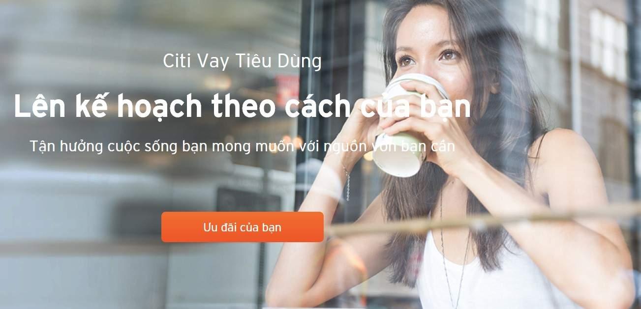 Vay tiêu dùng trả góp linh hoạt Citibank