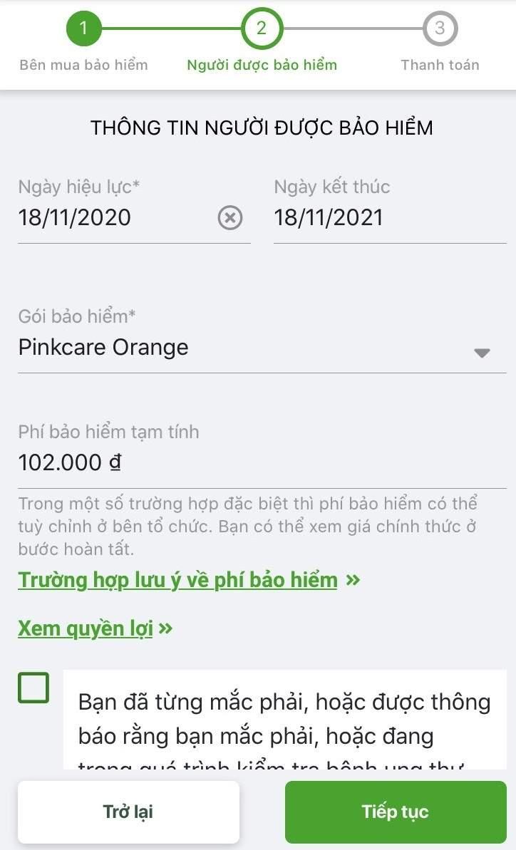 Bảo hiểm bệnh ung thư vú PinkCare VBI mức phí chỉ từ 42000 đồng