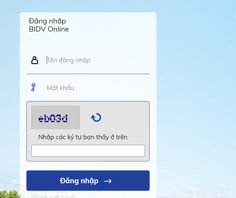 Internet banking BIDV
