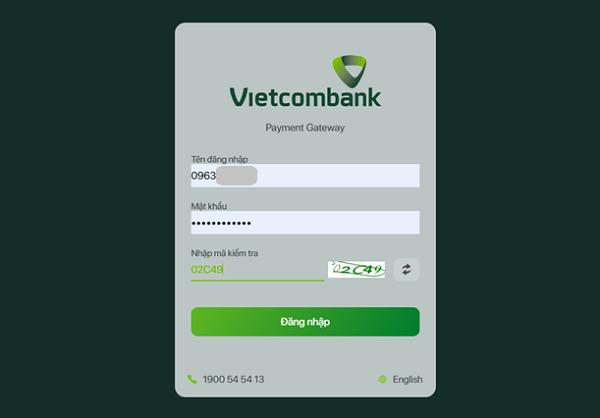 Đăng nhập tài khoản Internet Banking