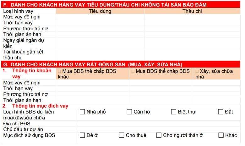 Giấy xác lập quan hệ khách hàng HDBank