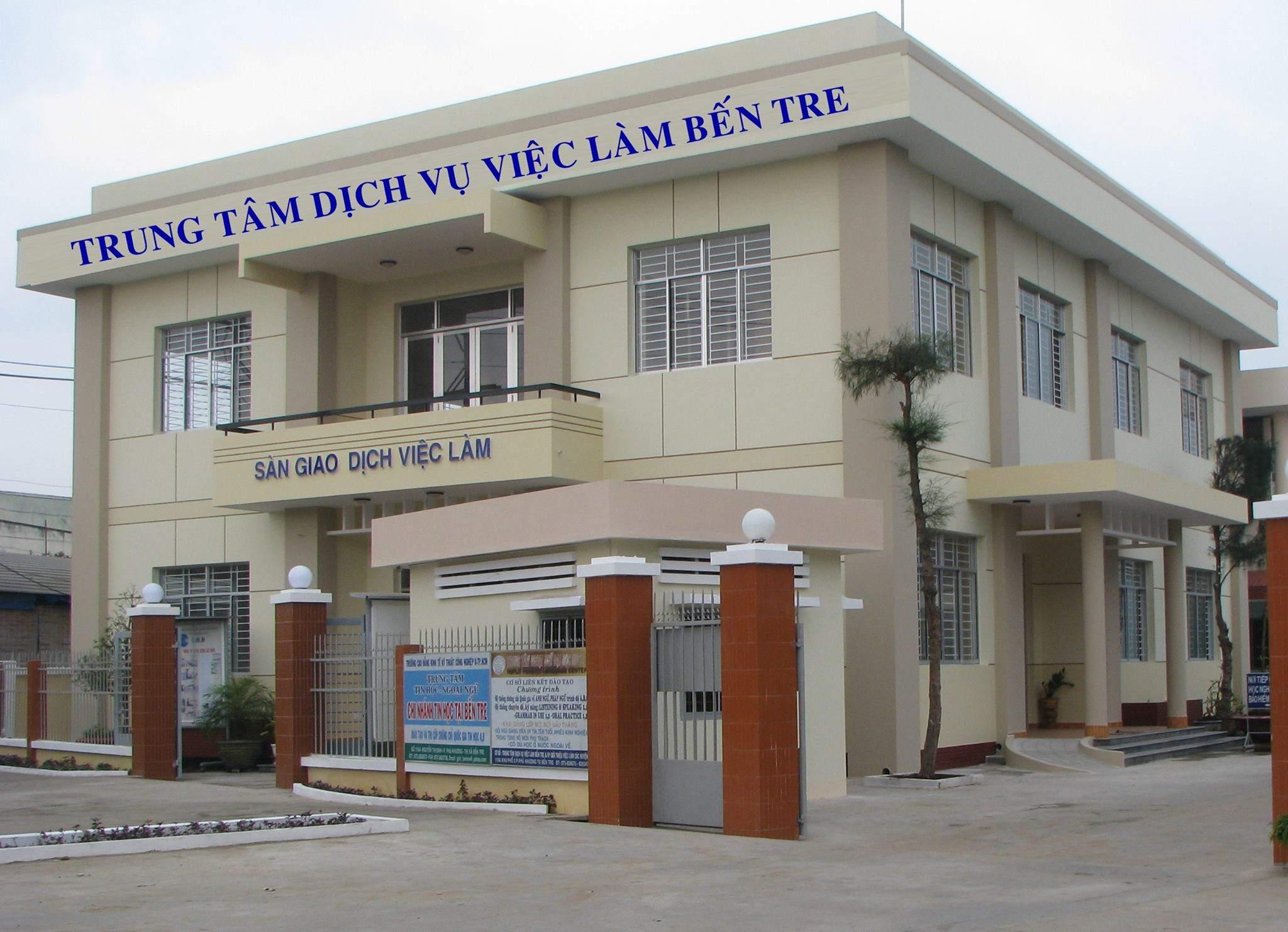 Trụ sở Trung tâm dịch vụ việc làm Bến Tre