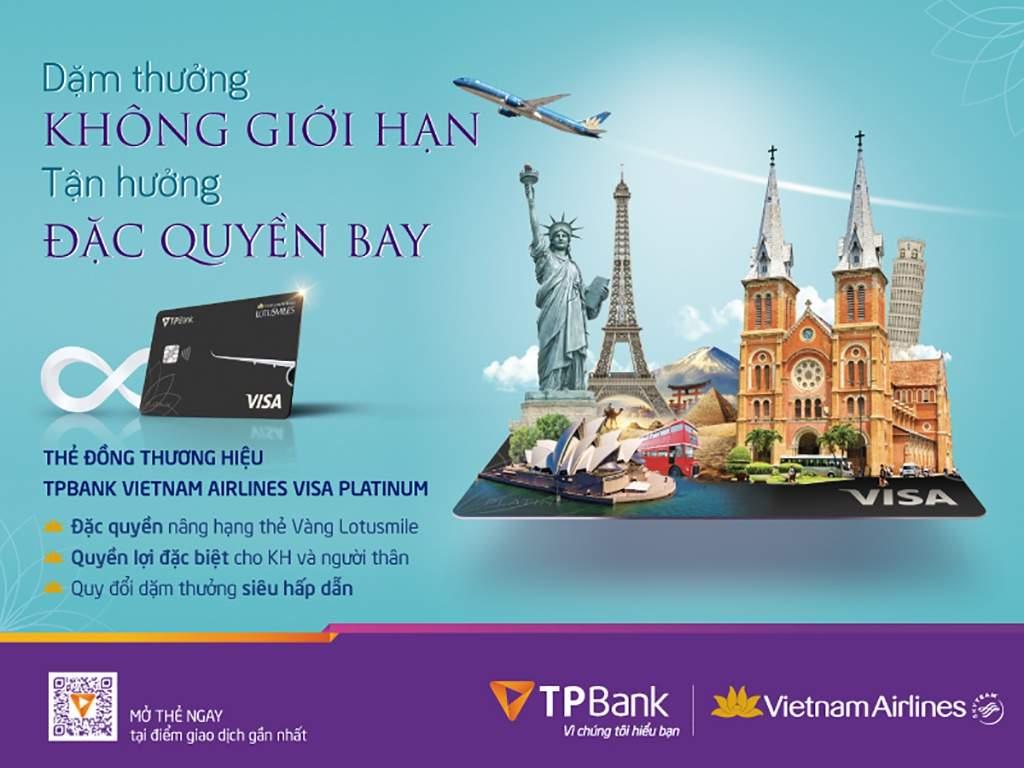 TPbank hợp tác Vietnam Airlines ra mắt thẻ tín dụng hạn mức 1 tỷ đồng, trả góp 0% lãi suất