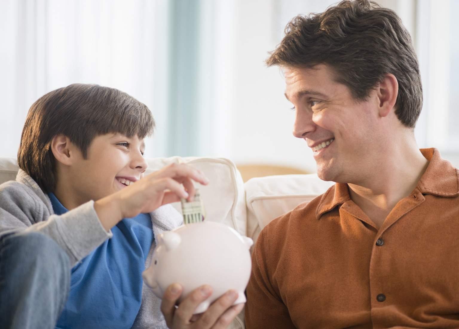Bảo đảm tài chính cho con