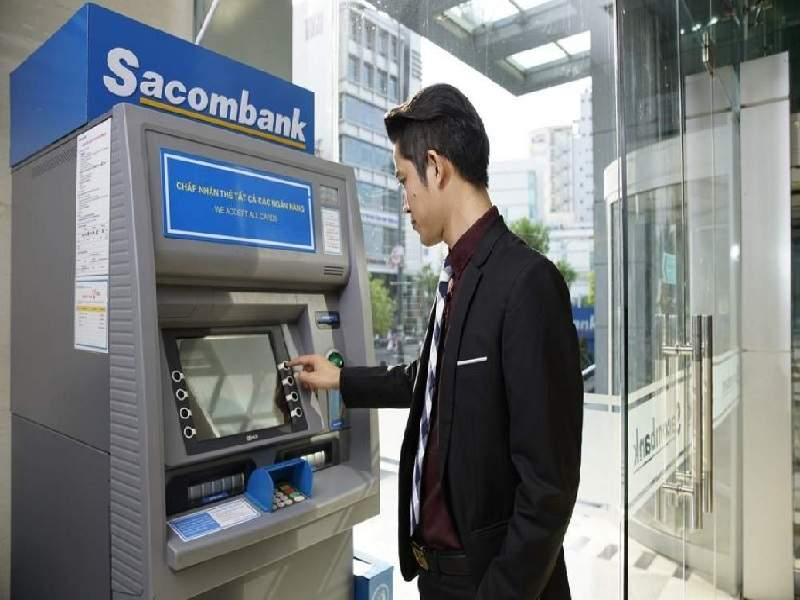 Đổi mật khẩu thẻ tại cây ATM Sacombank