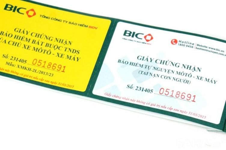 Tìm hiểu về bảo hiểm xe máy BIDV