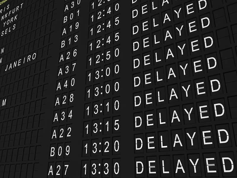 Chuyến đi bị delay