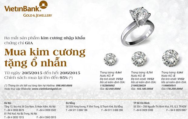chương trình ưu đãi mua kim cương tặng ổ nhẫn
