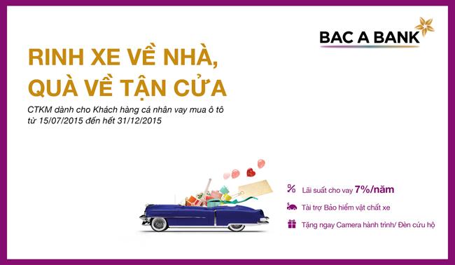 Vay mua xe tại BAC A BANK nhận tới 3 ưu đãi