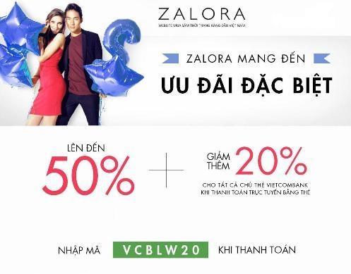 Zalora giảm giá đến 70% đặc biệt dành cho chủ thẻ Vietcombank