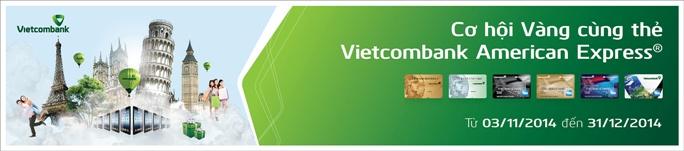 Ưu đãi thẻ Vietcombank American Express lớn nhất trong năm