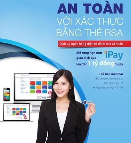 bổ sung xác thực giao dịch bằng thẻ RSA